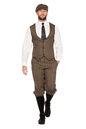 shoperama 20er Jahre Peaky Blinders Anzug Knickerbocker Herren-Kostüm Braun-Beige Weste Schiebermütze The Roaring...