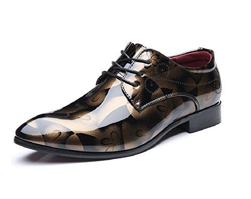 Anzugschuhe Business Herren, Lederschuhe Lackleder Hochzeit Derby Schnürhalbschuhe Oxford Smoking Schuhe Männer Leder...