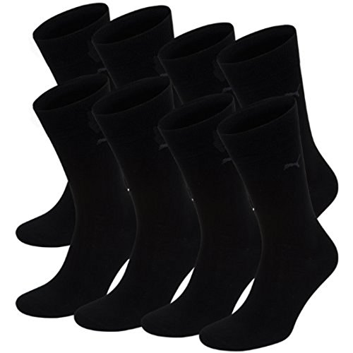 Puma Herren Classic Casual Business Socken 8er Pack, Schwarz, 43/46