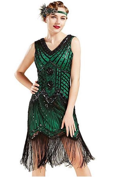 20er Jahre Mode 20er Jahre Kleid Charleston Kleid Flapper Kleid Gatsby Kleid Paillettenkleid Retro Kleid Damen