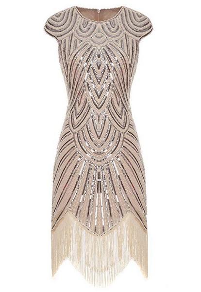 20er Jahre Mode Flapper Kleid 20er Jahre Kleid Charleston Kleid Gatsby Kleid Paillettenkleid Retro Kleid Damen rosa